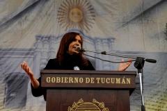 CFK encabezando los festejos por nuestra independencia