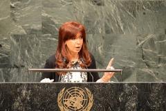CFK en la ONU, Nueva York 2014