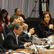 Cristina en reunión de UNASUR, Cochabamba 04 de julio de 2013.