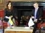 CFK en visita oficial a Colombia