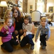 Cristina con Agustín y Mara en Casa Rosada