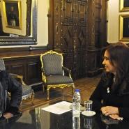 Cristina con René Pérez Joglar