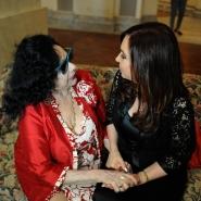 Cristina con Isabel