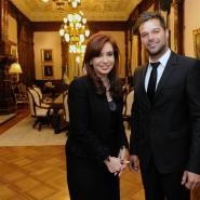 Cristina con Ricky Martin