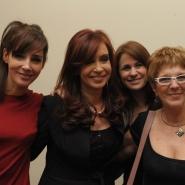 Cristina con actrices