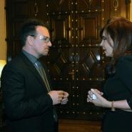 Cristina con Bono