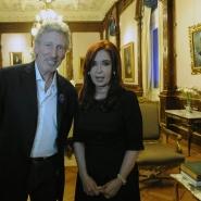 Cristina con Roger Waters