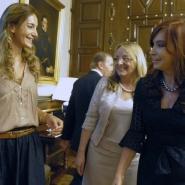 Cristina con Luciana Aymar