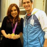 Cristina con Sebastián Crismanich