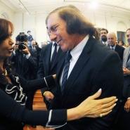 Cristina con el tenista Guillermo Vilas