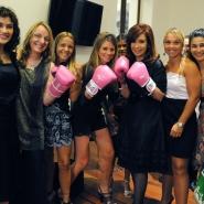 Cristina con boxeadoras