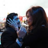 Cristina con Diego Maradona