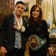 Cristina con Maravilla Martínez