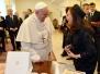 Cristina con el Papa Francisco en Roma