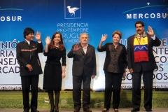 Cristina en la reunión del Mercosur, Montevideo 2013