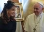 Cristina en Roma, con el Papa Francisco