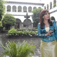 La senadora Cristina Fernández de Kirchner, en el Palacio Nacional Carondelet