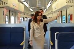 Inauguración del nuevo Ferrocarril San Martin