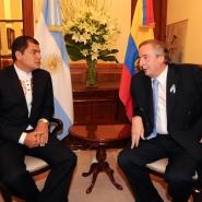 Néstor Kirchner y Rafael Correa