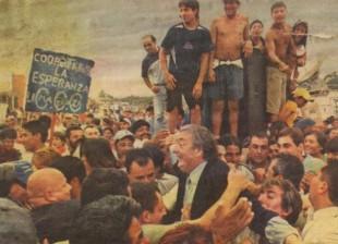 Néstor Kirchner en Villa Palito