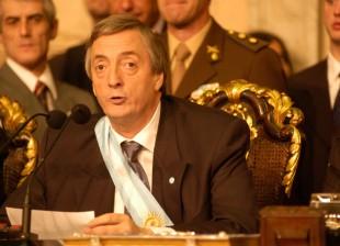 Asuncion de Néstor Kirchner