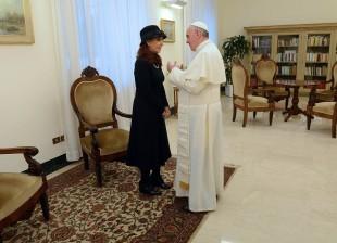 Cristina Fernandez de Kirchner y el Papa Francisco