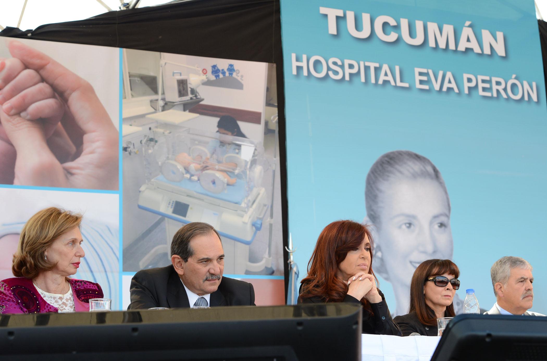 Cristina en Tucumán, en la inauguración del hospital Eva Perón