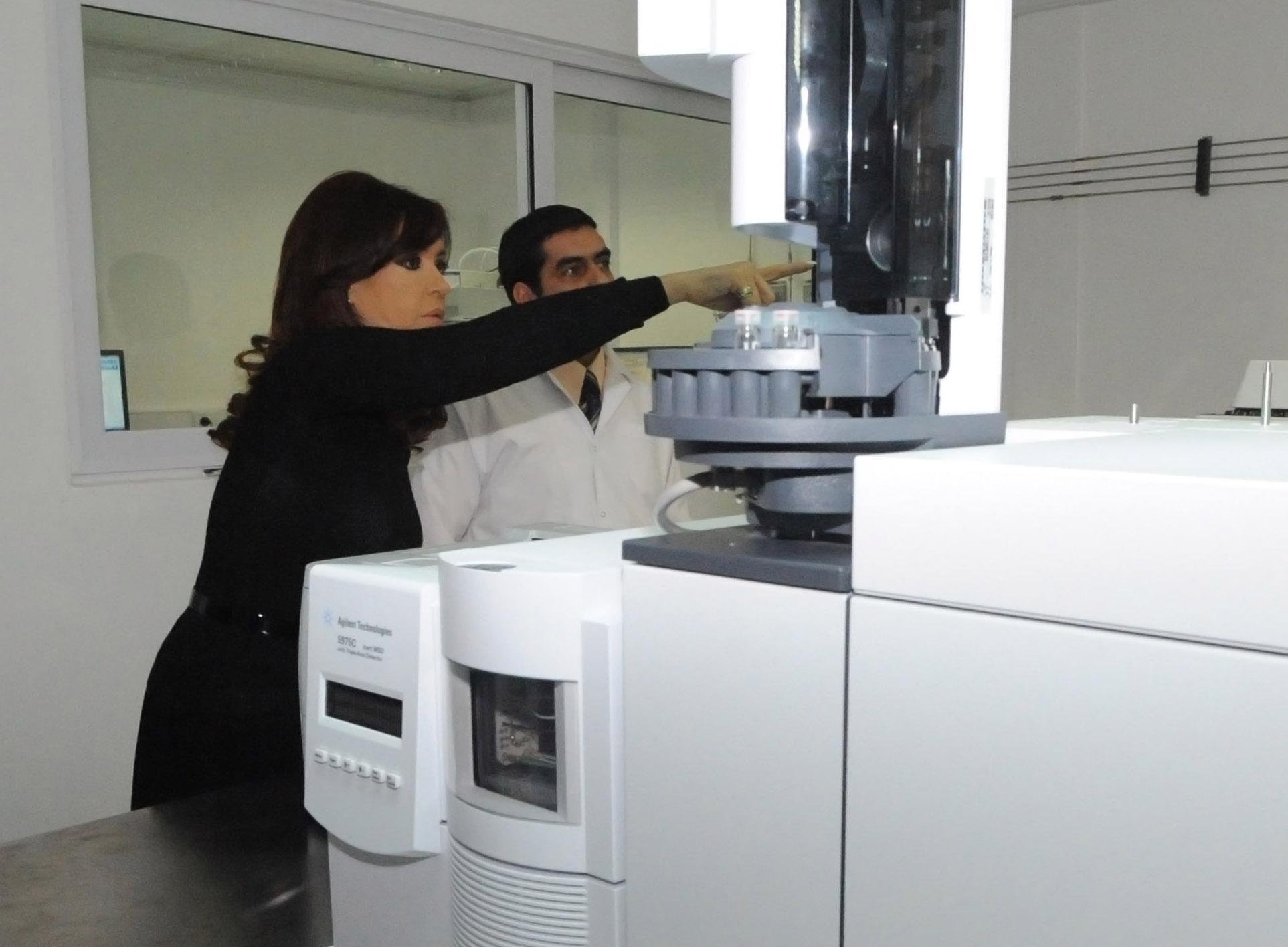 CFK en la inauguración del Laboratorio de Investigaciones Forenses de Río Gallegos