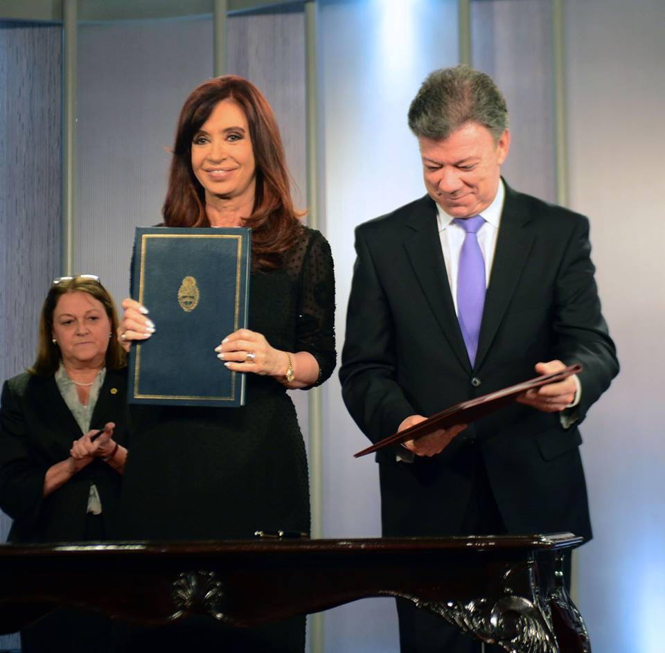CFK en visita oficial en Colombia.