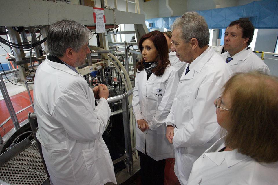 Cristina inauguró obras en el Instituto Balseiro.
