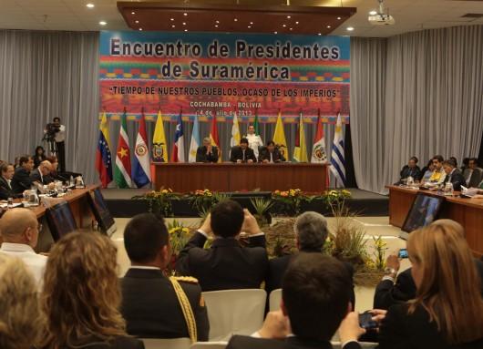 Reunión de UNASUR en Bolivia
