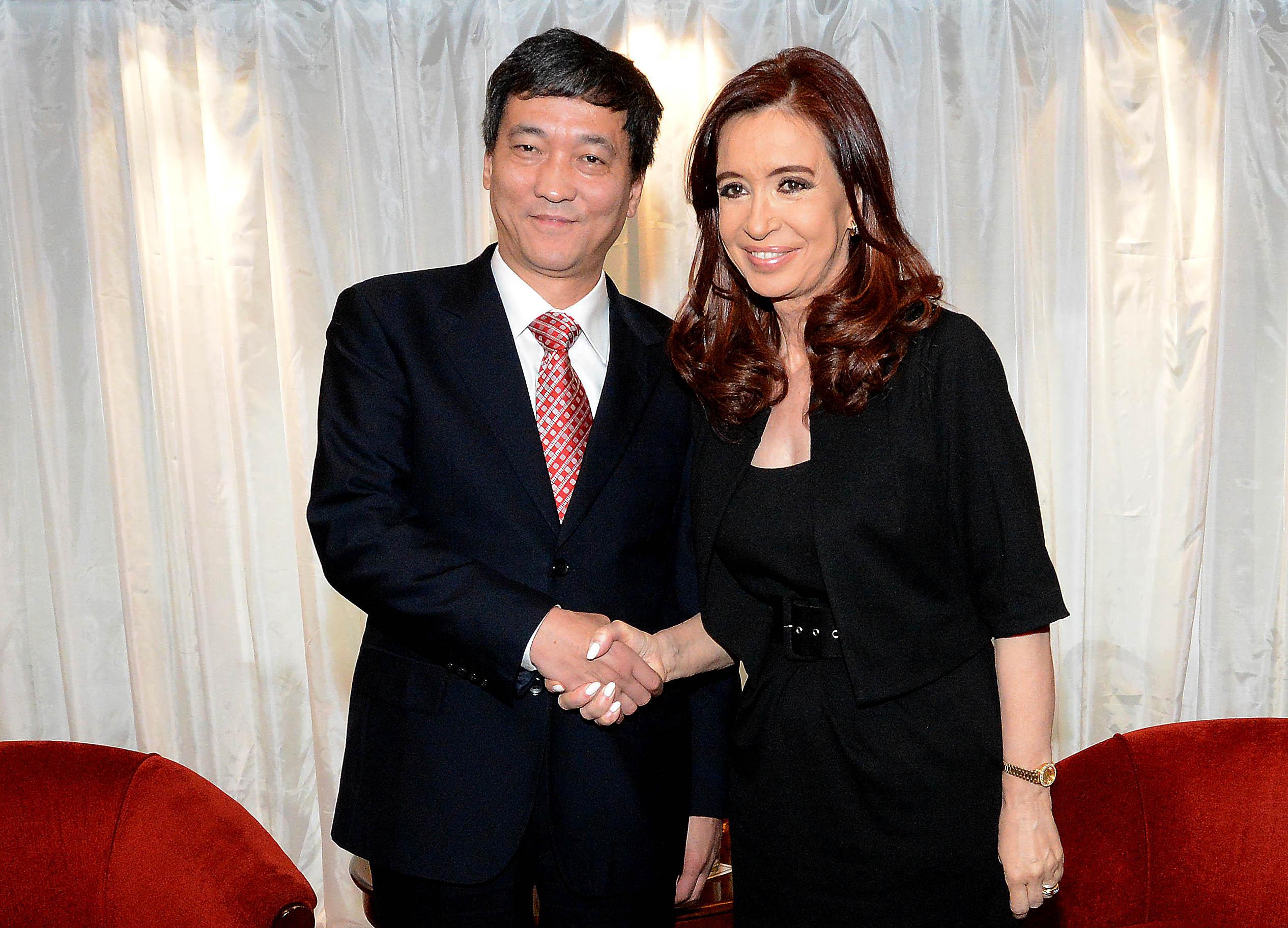 Cristina con Ren Juanguo