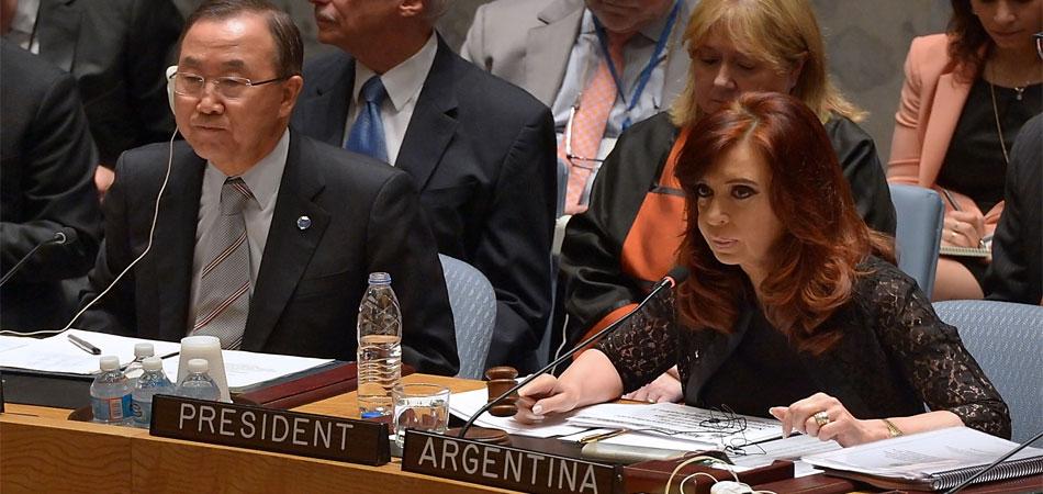 Cristina preside el Consejo de Seguridad de Naciones Unidas