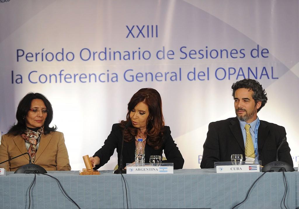 CFK Cerró la XXIII Conferencia de OPANAL