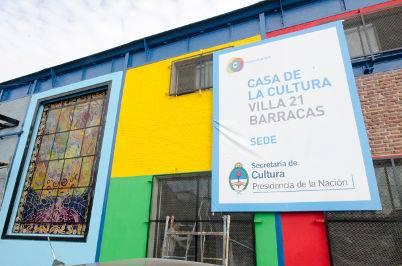 Casa de la Cultura villa 21 Barracas (primera gran obra cultural en una villa de emergencia