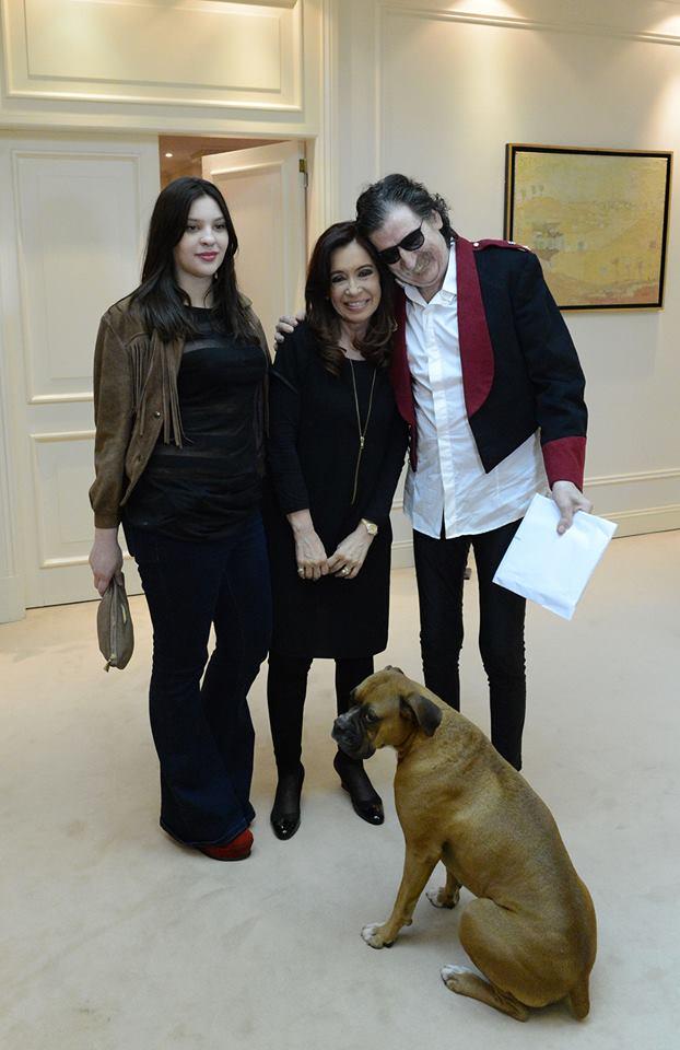 Cristina y Charly García en Olivos
