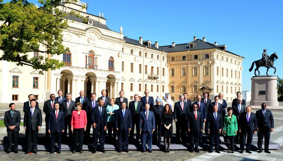 CFK en el G20 en San Petersburgo.