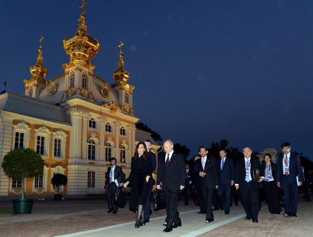 Sesión plenaria del G-20 en San Petersburgo.