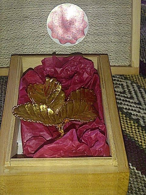 Les voy a contar sobre un regalo que me hizo la intendenta, que es una artesanía hecha por la firma Flor Andina.