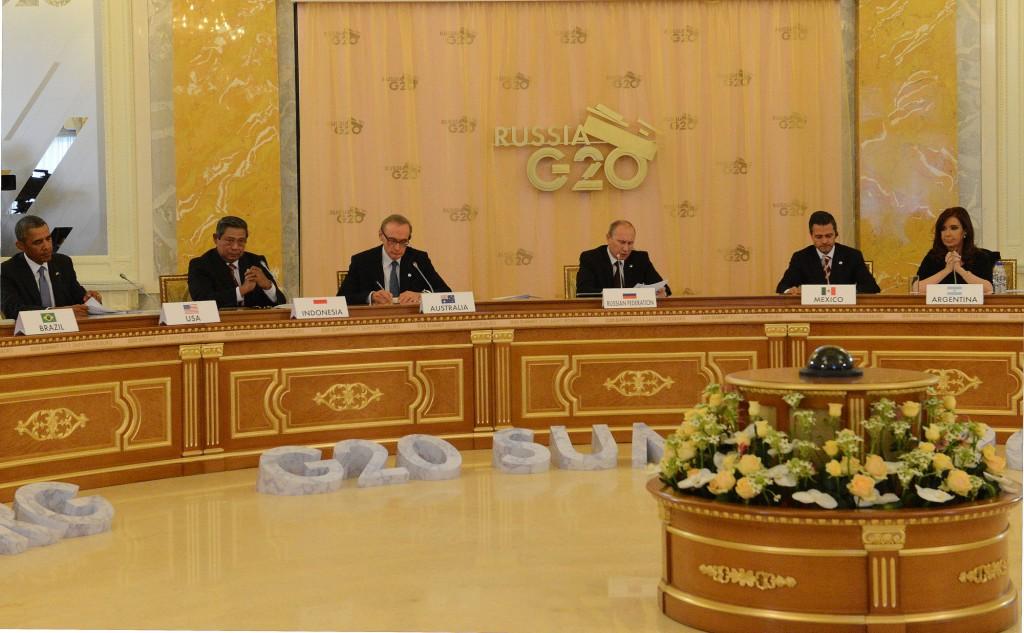 Sesión plenaria del G-20 en San Petersburgo