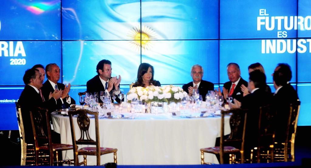 Cristina en Tecnópolis en la cena del Día de la Industria