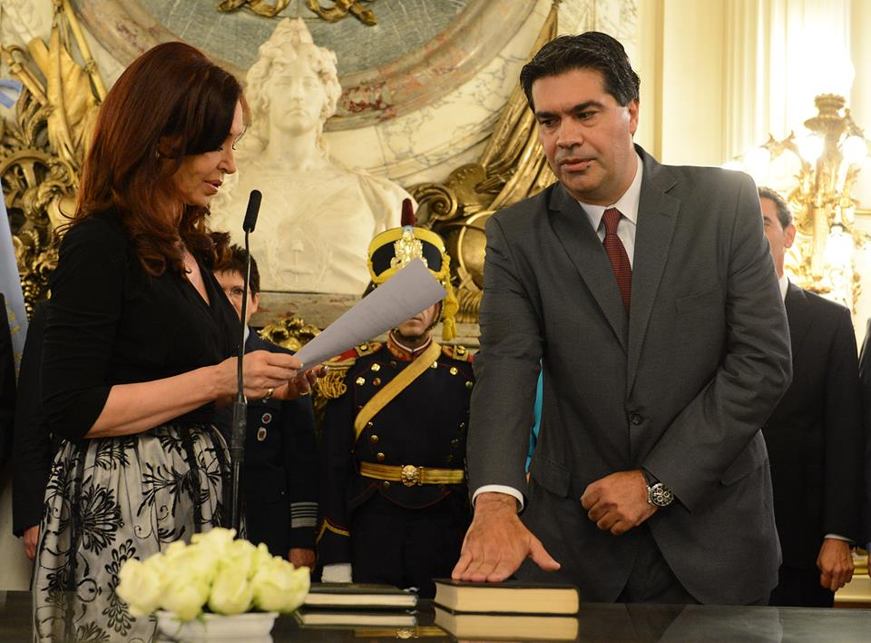 Jura de Jorge Capitanich como Jefe de Gabinete de Ministros.