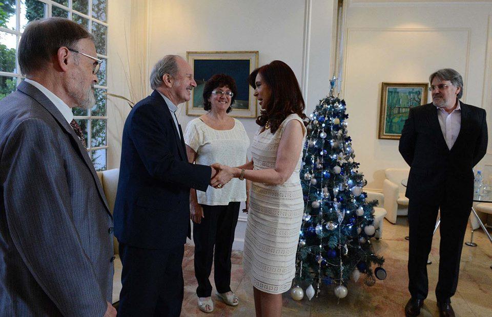 Cristina se reunió con representantes de la Federación Argentina de Iglesias Evangélicas.