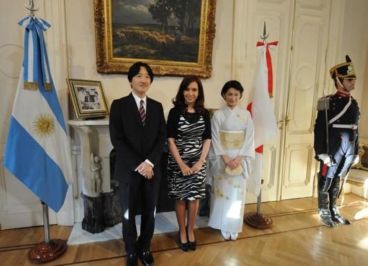 La Presidenta recibió al Príncipe y la Princesa Akishino de Japón