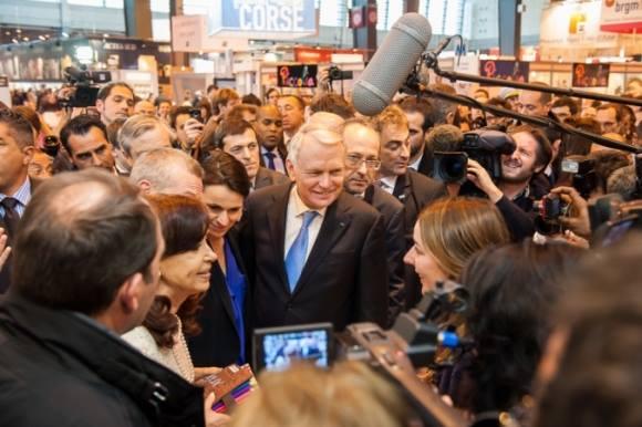 Inauguración del Salón del Libro de París 2014.