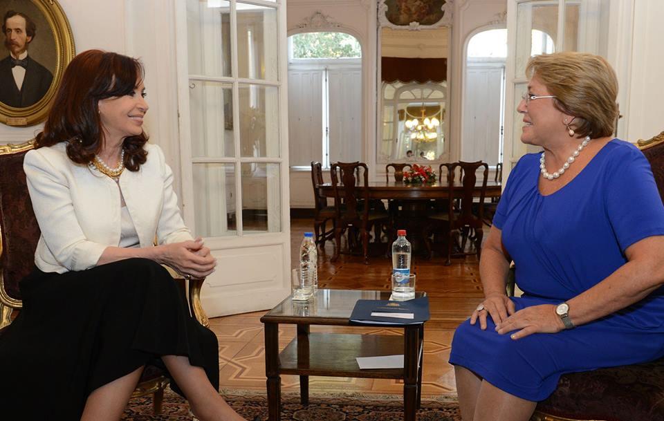 Encuentro con la presidenta electa de Chile Michelle Bachelet.