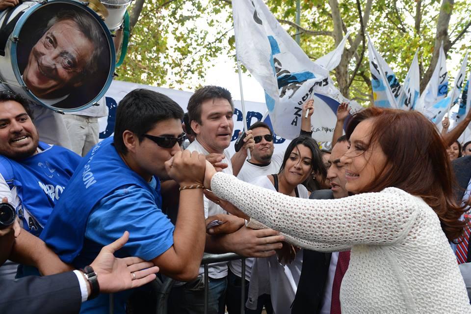 Cristina en la asunción de Michelle Bachelet en Chile.