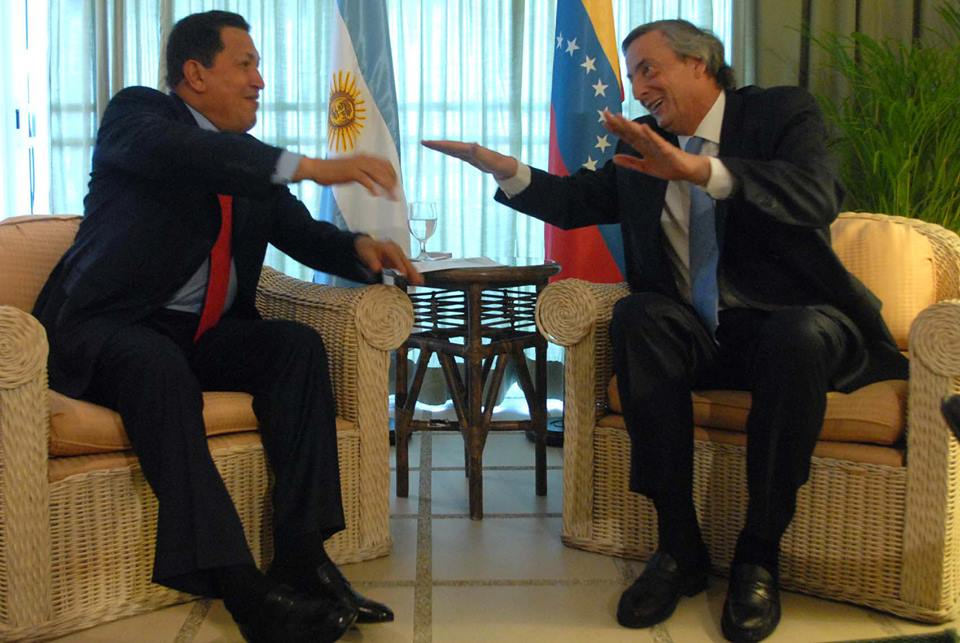 Hugo Chávez y Néstor Kirchner