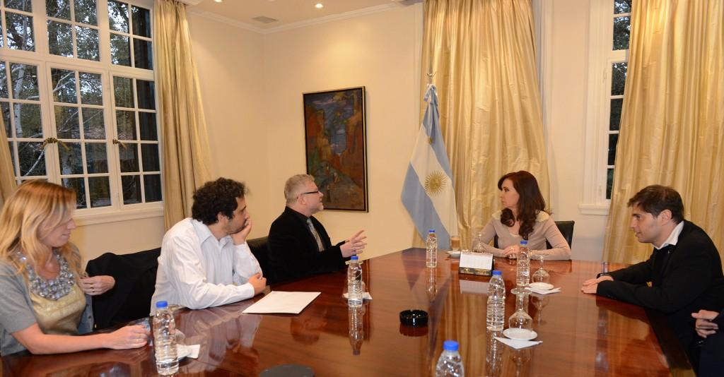 Audiencia con Gabriel Rabinovich e investigadores del CONICET.