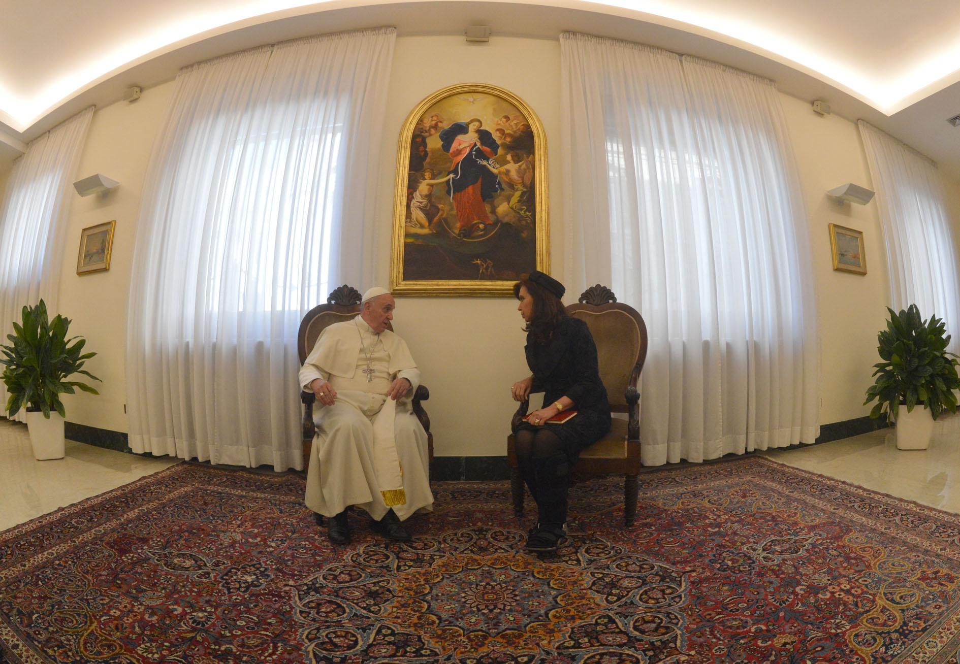 Cristina con el Papa